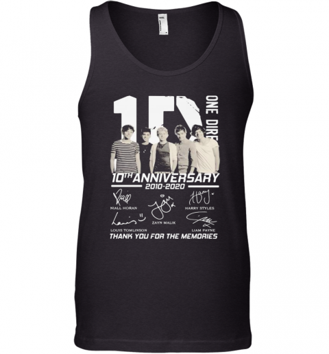 One Direction 10Th Anniversary 2010 2020 Thank For The Memories Signatures Tank Top