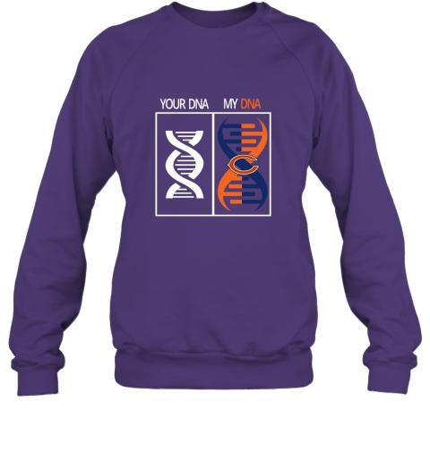 j4zg my dna is the chicago bears football nfl sweatshirt 35 front purple