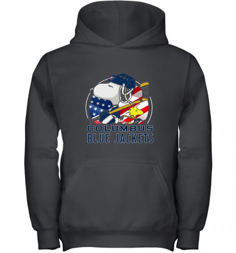 Columbus Blue Jackets  Snoopy And Woodstock NHL Youth Hoodie