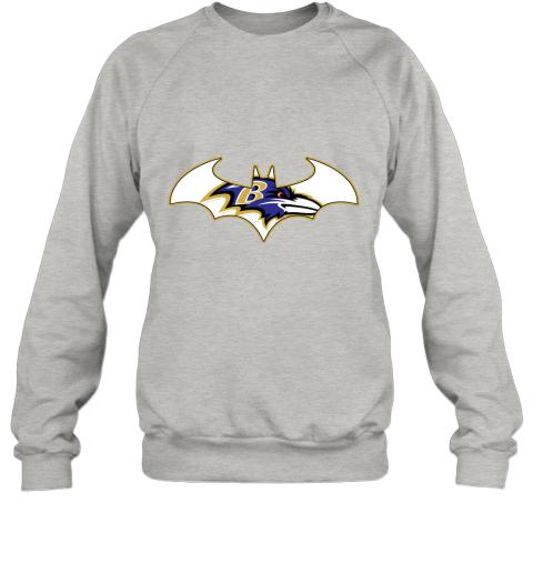 bul4 we are the baltimore ravens batman nfl mashup sweatshirt 35 front ash