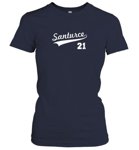 t4zt vintage santurce 21 puerto rico baseball ladies t shirt 20 front navy