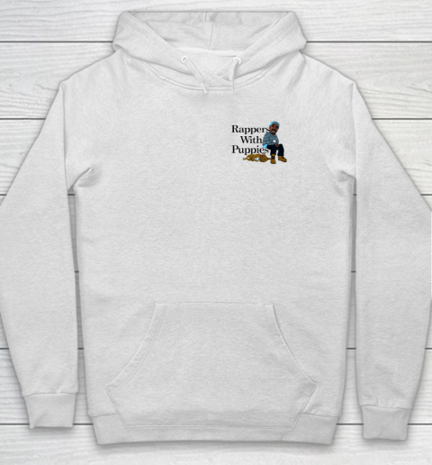 Rappers With Puppies Front and Back Hoodie