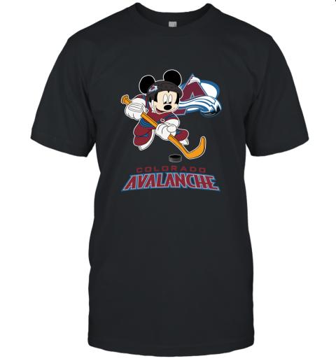 uzlt nhl hockey mickey mouse team colorado avanlanche jersey t shirt 60 front black