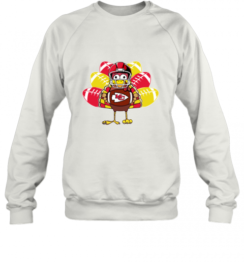 Kansas City Chiefs  Thanksgiving Turkey Football NFL Sweatshirt