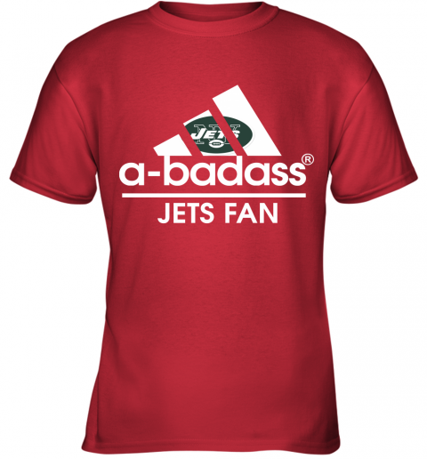 xdyk a badass new york jets mashup adidas nfl youth t shirt 26 front red