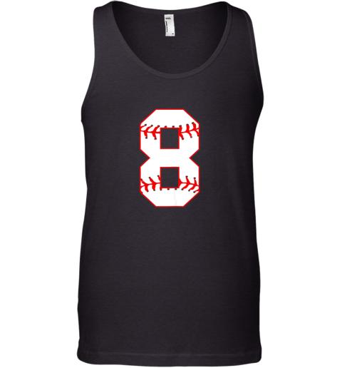Cute eighth Birthday Party 8th Baseball Shirt Born 2011 Tank Top