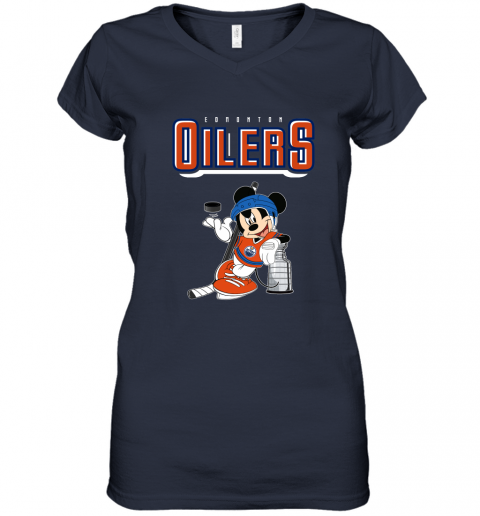 zhit mickey edmonton oilers with the stanley cup hockey nhl shirt women v neck t shirt 39 front navy