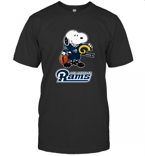 Snoopy A Strong And Proud Los Angeles Rams NFL T-Shirt
