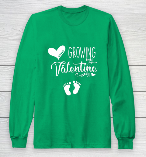 Growing my Valentine Tshirt for Wife Long Sleeve T-Shirt 4