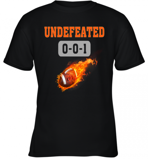 NFL CINCINNATI BENGALS LOGO Undefeated Youth T-Shirt