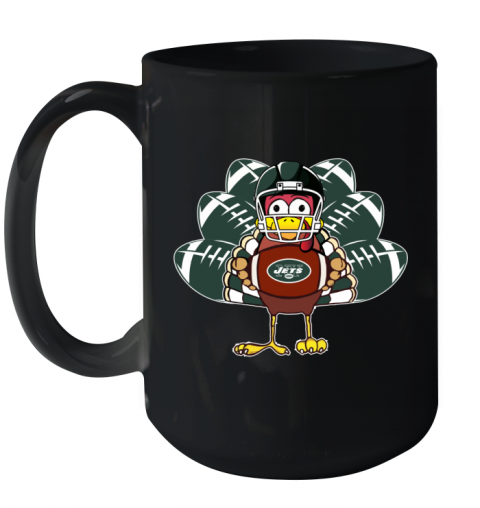 New York Jets  Thanksgiving Turkey Football NFL Ceramic Mug 15oz