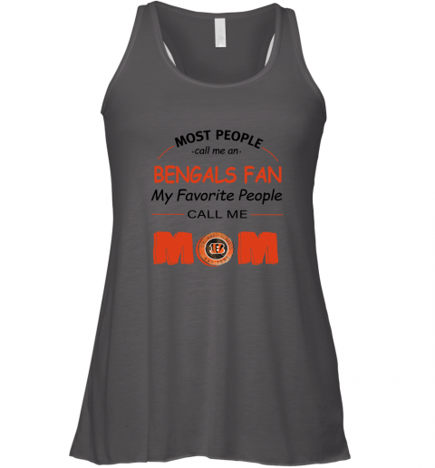 q4qh most people call me cincinnati bengals fan football mom flowy tank 32 front dark grey heather