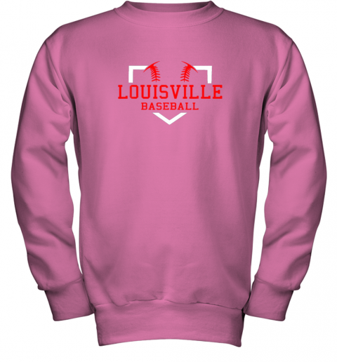 lxwm vintage louisville baseball kentucky gift youth sweatshirt 47 front safety pink