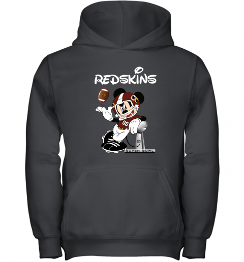 Mickey Redskins Taking The Super Bowl Trophy Football Youth Hoodie