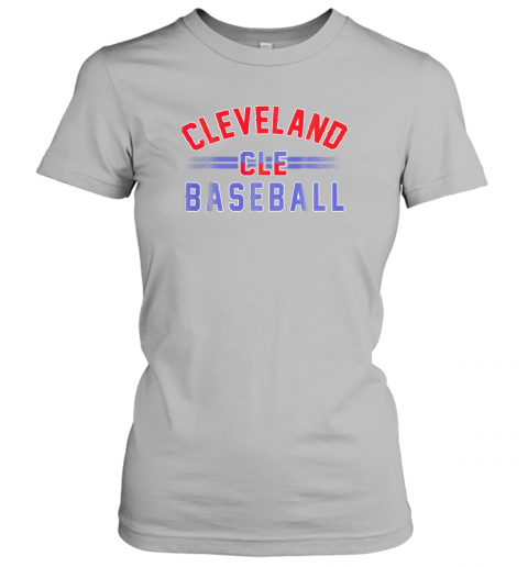6xkc cleveland cle baseball ladies t shirt 20 front sport grey