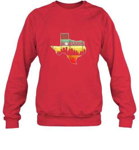 hpto houston retro baseball shirtvintage houston baseball sweatshirt 35 front red