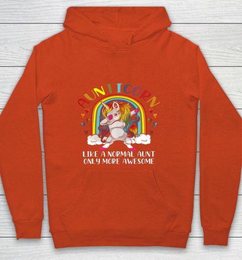 Aunticorn Like An Aunt Only Awesome Dabbing Unicorn Youth Hoodie 3