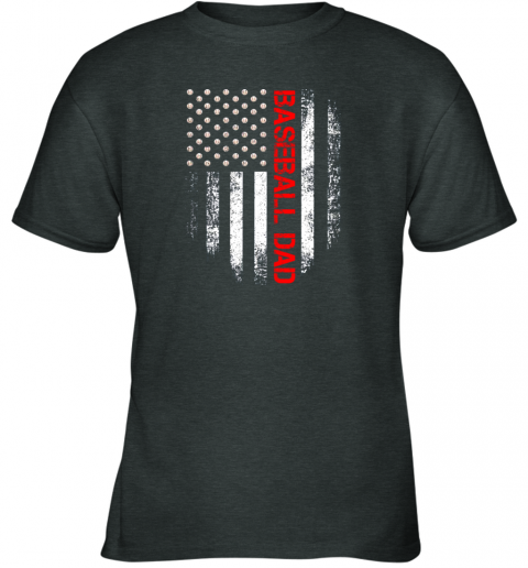 geol vintage usa american flag proud baseball dad player youth t shirt 26 front dark heather