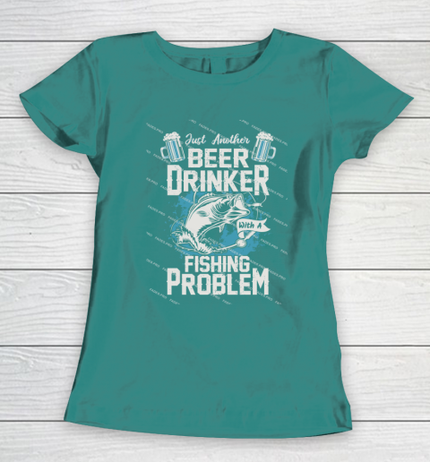 Beer Lover Funny Shirt Fishing ANd Beer Women's T-Shirt 10