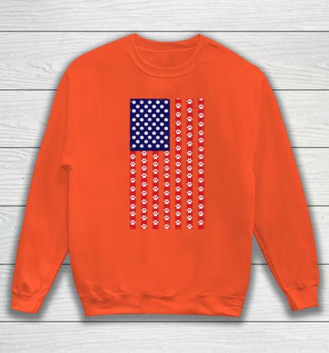 Handball Dog Lover American Flag Sweatshirt 3