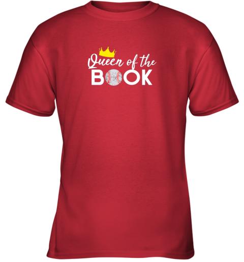 7evj scorekeeper baseball team scorebook queen youth t shirt 26 front red