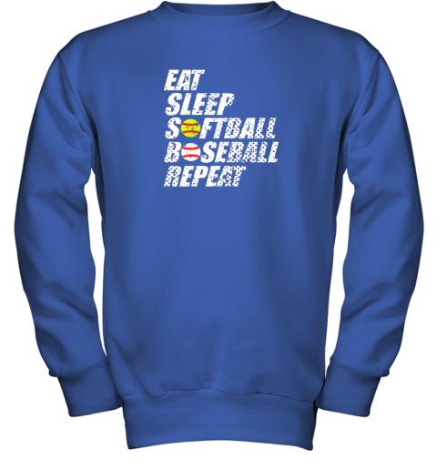 ypmz softball baseball repeat shirt cool cute gift ball mom dad youth sweatshirt 47 front royal
