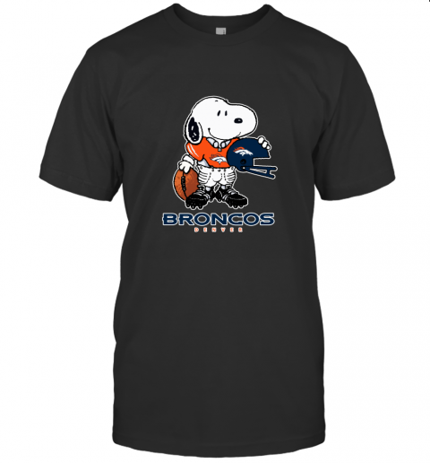 Snoopy Strong And Proud Denver Broncos Player NFL T-Shirt