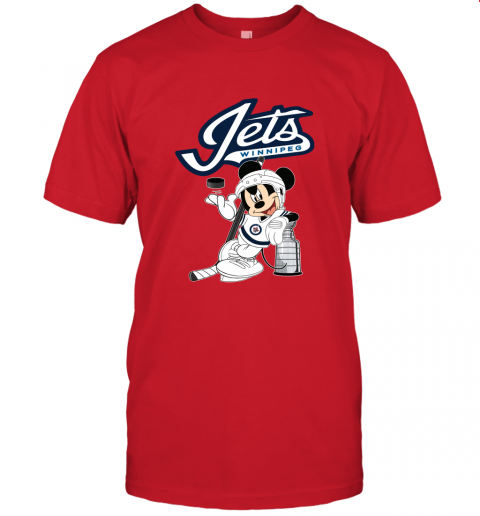 otn8 mickey winnipeg jets with the stanley cup hockey nhl jersey t shirt 60 front red