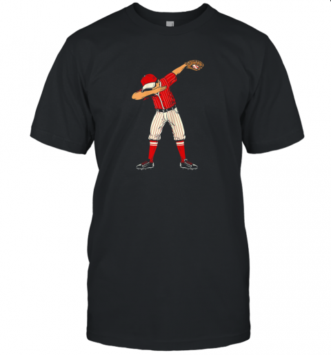 Dabbing Baseball Catcher Gift Shirt Kids, Men, Boys BZR Unisex Jersey Tee