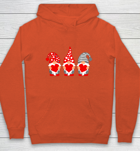 Gnomes Hearts Valentine Day Shirts For Couple Hoodie 3