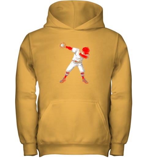 kpci dabbing baseball t shirt funny dab dance shirts boys girls youth hoodie 43 front gold