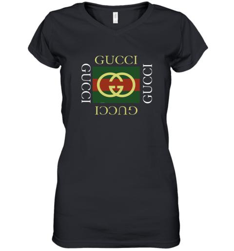Gucci Logo Gift Womens V-Neck T-Shirt