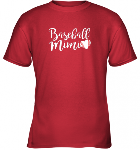 cx3p funny baseball mimi shirt gift youth t shirt 26 front red