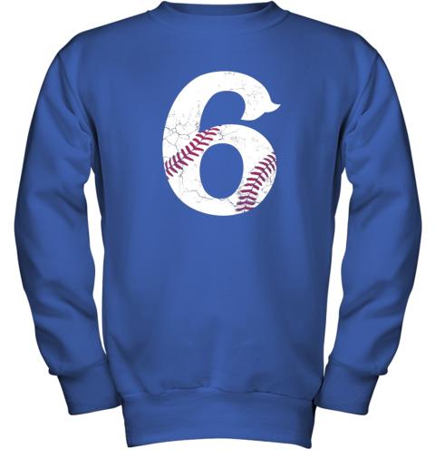 wmvt kids happy birthday 6th 6 year old baseball gift boys girls 2013 youth sweatshirt 47 front royal
