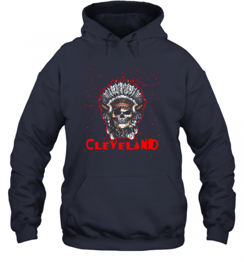 phgn cleveland hometown indian tribe vintage baseball fan awesome hoodie 23 front navy