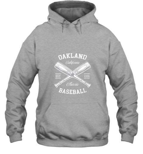 cyzm oakland baseball classic vintage california retro fans gift hoodie 23 front sport grey