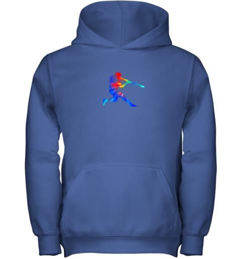 vjvp tie dye baseball batter shirt retro player coach boys gifts youth hoodie 43 front royal