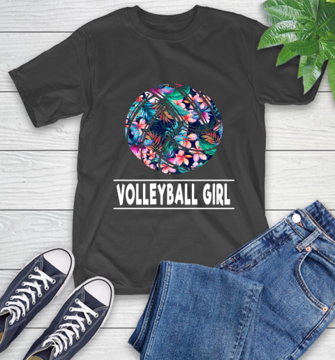 I'm A Volleyball Girl Love Flowers And Never Give Up