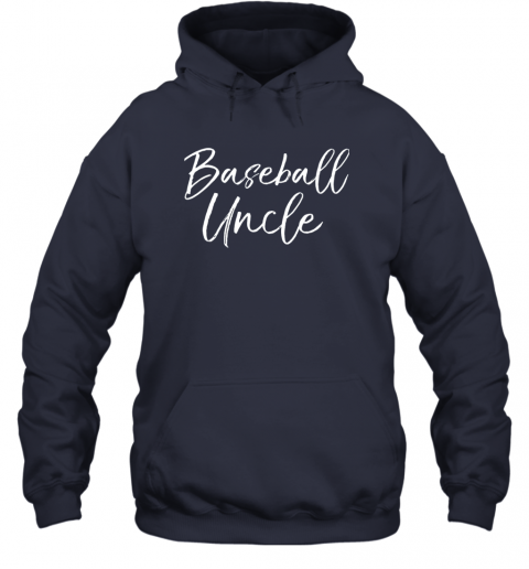 w8r2 baseball uncle shirt for men cool baseball uncle hoodie 23 front navy