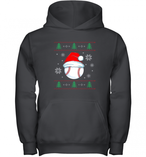 Ugly Christmas Baseball Shirt Boys Kids Ball Santa Pajama Youth Hoodie