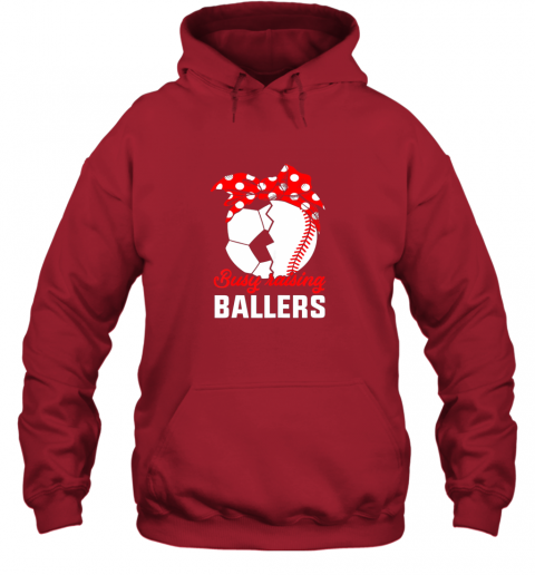 xqf7 busy raising a ballerfunny baseball soccer mom hoodie 23 front red