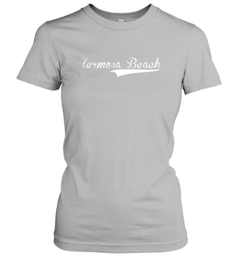nszm hermosa beach baseball softball styled ladies t shirt 20 front sport grey