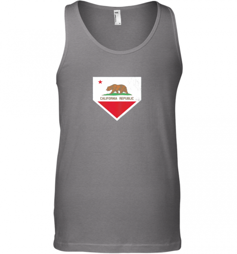 gtw7 vintage baseball home plate with california state flag unisex tank 17 front graphite heather