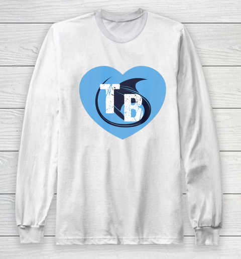 Stingray Love Tampa Bay Vintage TB Cool Tampa Bay Heart Long Sleeve T-Shirt 2