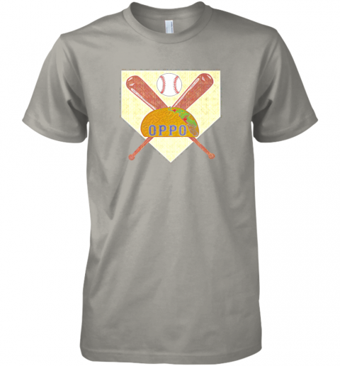 yvl4 the official oppo baseball lovers taco premium guys tee 5 front light grey