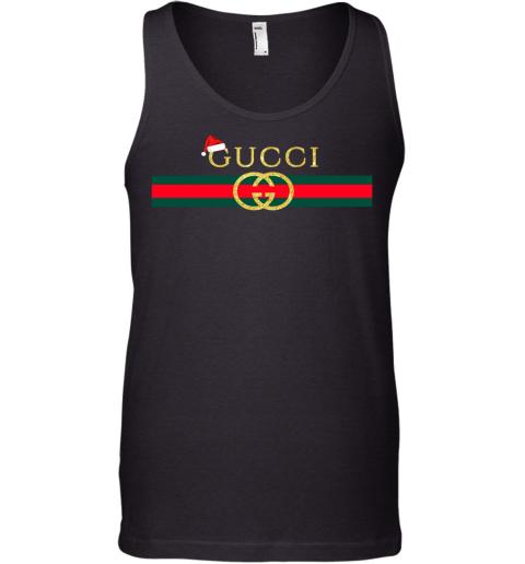 Gucci Glitter Logo Vintage Inspired Santa Hat Merry Christmas Gift Mens Tank Top