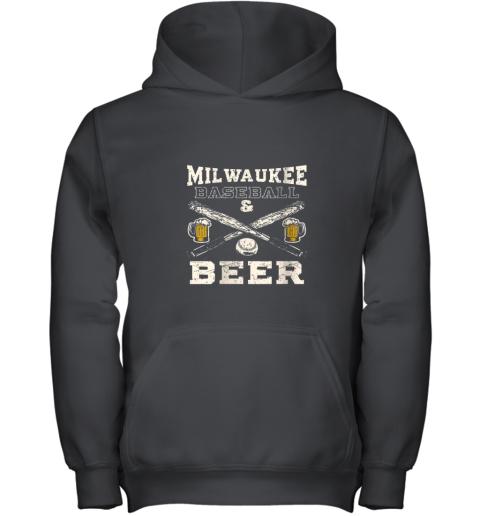Love Milwaukee Love Baseball Youth Hoodie