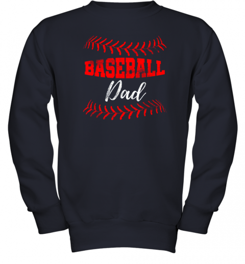 c9om mens baseball inspired dad fathers day youth sweatshirt 47 front navy