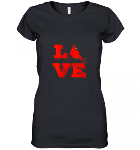 Classic Love St. Louis Missouri Baseball Fan Retro Women's V-Neck T-Shirt