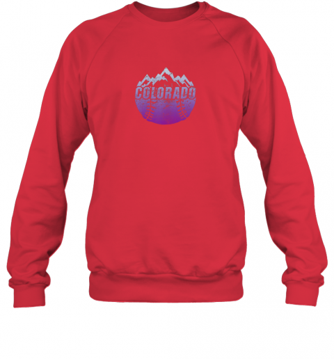 cr0h colorado baseball rocky mountains sweatshirt 35 front red